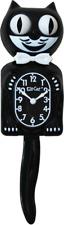 "Kit Kat Clock Black Vintage Wall Tail Klock Classic ORIGINAL 15.5"""
