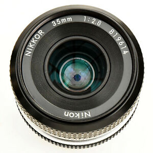 Nikon Nikkor 35mm f/2.8 AI Converted Man Fcs lens. Nr. Mint. Tested. See Images