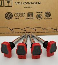 ✅✅Genuine OEM Audi A4 A6 Q7 Q5 S5 VW Touareg 06E905115G Red Ignition Coil Set 4✅