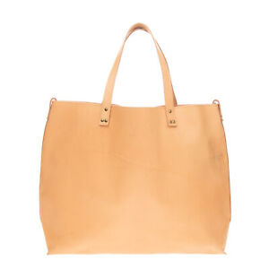 RRP €115 MIA BAG Leather Tote Bag Large Two Handles Slouchy Unlined Open Top