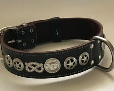"LEATHER STAFFORDSHIRE/STAFFY/BULL TERRIER DOG COLLAR REAL LEATHER,1""1/2WIDE"