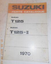 1970 70 SUZUKI TC120 TC 120 PARTS CATALOG SHOP SERVICE REPAIR MANUAL Catalogue
