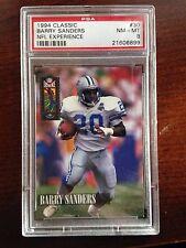 1994 Classic Barry Sanders NFL Experience #30 PSA 8 NM-MT 2 pop