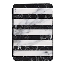 Black & Grey Marble Stripes iPad Mini 1 2 3 PU Leather Flip Case Cover