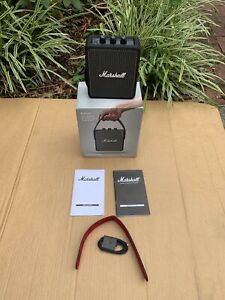Marshall Stockwell II Black Active Stereo Bluetooth Speaker