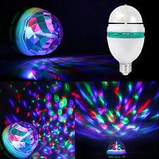 E27 3W Colorful Rotating Stage RGB LED Light Bulb Bright Party Disco Club Lamp