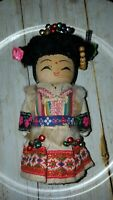 "Vintage wooden 6"" international doll no markings  (g1)"