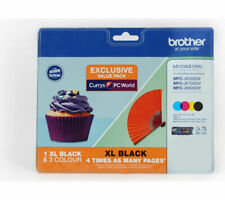 BROTHER LC123/LC129XL Cyan Magenta Yellow & Black Ink Cartridges Multipack
