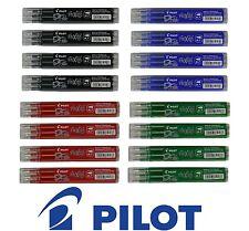 PILOT Frixion Ball Recharge Noir, Vert, Bleu Rouge Pointe Moyenne BSL-FR7 Lot 12