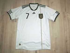 Bastian Schweinsteiger #7 2008 Germany adidas White Home Jersey Men M