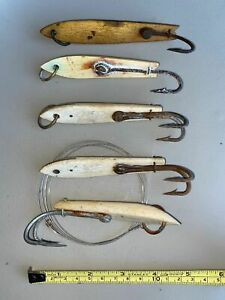 Vintage Set of Five Tuna Jigs