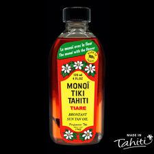 MONOI TIKI TAHITI BRONZANT SPF 3 AVEC FLEUR 120 ML HUILE MONOÏ ROUGE TIARE