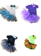 Baby Fancy Dress Party Tutu Set Kids Toddler  Mouse Top Rhinestone Top Halloween