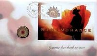 AUSTRALIA 2012 RED POPPY PNC REMEMBRANCE C MINTMARK $2 COIN UNC RAM