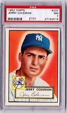 1952 Topps #237 Jerry Coleman - Near Mint PSA 7