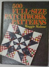 New listing 500 Full Size Patchwork Patterns by Maggie Malone ~ Quilt Pattern Book