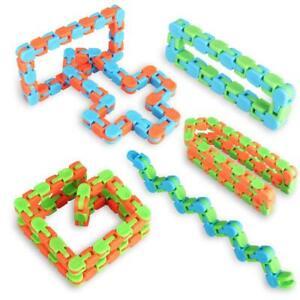 6 Pack 24 Links Wacky Tracks Snap Pop Click Fidget Finger Sensory Toys Snake Puz