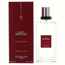 HABIT ROUGE BY GUERLAIN 3.4 OZ EAU DE TOILETTE SPRAY FOR MEN NEW IN BOX SEALED