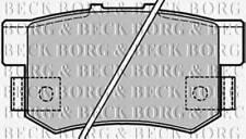 BORG & BECK BBP1656 BRAKE PAD SET FOR DISC BRAKE REAR AXLE PA568806C OE QUALITY