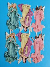 ORIGINAL MLP VINTAGE SCRAPS  ANGELS FULL  SHEET NO 862    9.1/4 X  6,IN