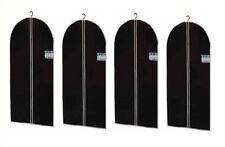 4x Kleidersack Kleiderhülle Kleidersäcke Kleider Hülle Schwarz 150 x 60 cm