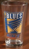 St. Louis Blues Busch Beer 2000 2001 Pint Glass Cup Hockey Vintage NHL SGA