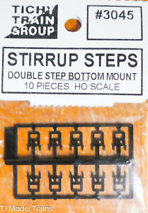 Tichy Train Group HO Scale #3045 Stirrup Steps 10 / Double Step Bottom Mount