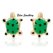 So Cute Turtle Earrings 10K Yellow Gold Very Cute Box RRP $198 Imported from USA