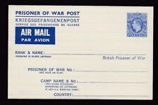 WW2 POW 2½d Air Mail stationery flap at top - fine & clean unused
