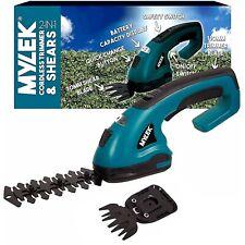 More details for mylek cordless hedge trimmer cutter & grass shears handheld li-ion garden shrub