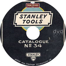 Antique Tool Guide Stanley Vintage 1892 to 1953 Tool Catalogs on DVD