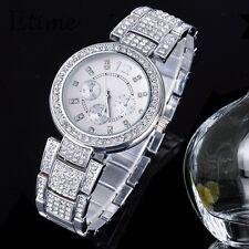 Geneva Ladies Girls Stainless Steel & Diamante Watch - Choose Colour BNWT