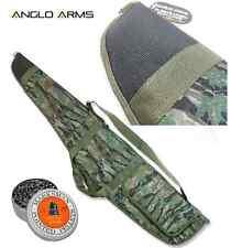 CAMO PADDED RIFLE GUN BAG AIR RIFLE CASE SLIP + 200 x .22 DOMED PELLETS