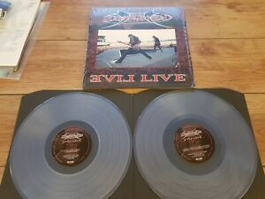 "DIAMOND HEAD ""EVIL LIVE"" 2 LP SET CLEAR VINYL 2017 LIMITED EDITION BRAND NEW !!"