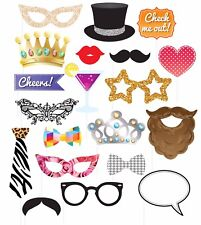 Henbrandt 20pc Wedding Hen Party Photo Booth Selfie Props Set