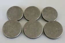 6 Pieces Antique Silver 1 inch Button Set for Winter Coat Overcoat
