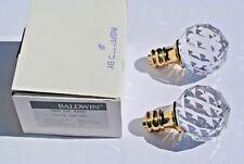 Pair of Baldwin Hardware 5009.030.IMR Swarovski Crystal Knob only Indoor Door