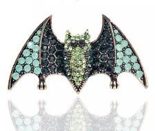 Bat Brooch Diamante Crystal Rhinestone Broach Pin Halloween Jewellery Gifts