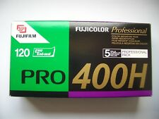 5 PACK  NEW Fuji Professional PRO 400H - 120 Roll - Colour Negative Print Film.