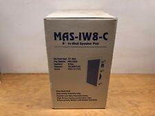 """NEW MAS 8"""" In-Wall Speaker Pair 80 Watts 8Ohms White MAS-IW8-C"""