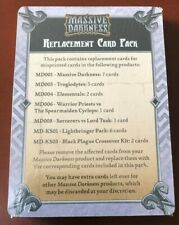 *NEW* Massive Darkness Kickstarter and Lightbringer Pack Replacement Cards ONLY