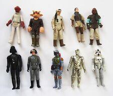 Lot of 10 Star Wars Original VINTAGE Action Figures 1980s Boba Fett Squid Head