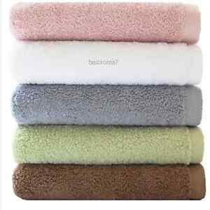 Lot of 5 Soft Cotton Absorbent Terry Sheet  Luxury Bath Hand Face Towels Beach