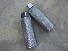 Used Old School Chrome BMX Freestyle BICYCLE Axle Extenders Fits 3/8, 26 TPI