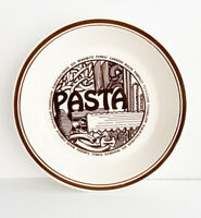 Vintage Mount Clemens Pottery Pasta (with recipe on back) Retro Kitchen Bowl