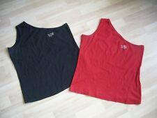 2 x Tops, Damen, Gr. 40/42, schwarz und rot