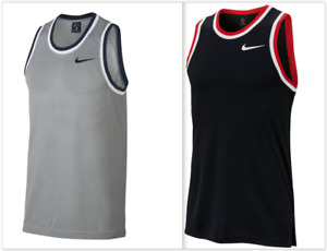 NWT Nike DRI-FIT Classic Basketball Jersey,Silver/Navy or Black/White AQ5591