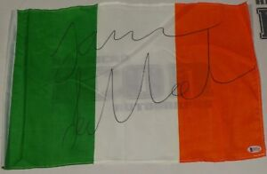 James Gallagher Signed 12x18 Irish Flag BAS Beckett COA Bellator Auto'd Ireland
