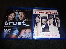 TRUST & A LATE QUARTET-2 dvds-CATHERINE KEENER,CLIVE OWEN,PHILIP SEYMOUR HOFFMAN