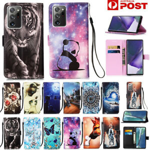 For Samsung S21/S20 FE Note20 Ultra S10 S9 8 Plus Case Wallet Leather Flip Cover